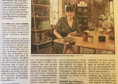 Article de presse DNA Avril et Alsace Mai 2018 concernant l'ouverture de la boutique Inspiration Design à Colmar