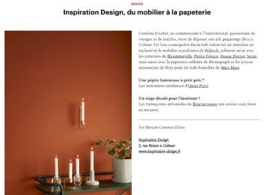 magazine Zut Automne-Hiver 2019, article en ligne sur Inspiration Design