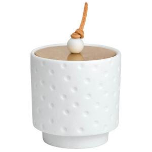 Boîte porcelaine couvercle doré M 15€ chez Inspiration Design à Colmar