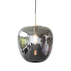 Suspension verre fumé pomme Dia 40cm 250€ chez Inspiration Design à Colmar