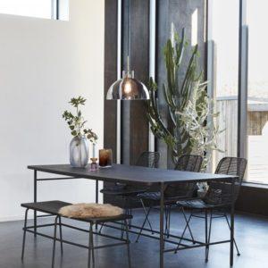 Suspension verre fumé semi-ouverte Dia 40cm 180€ chez Inspiration Design à Colmar