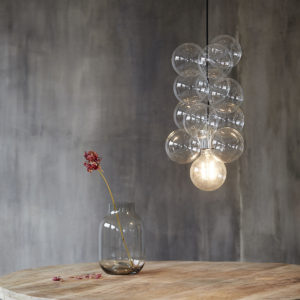 Suspension perles de verre H50cm 195€ chez Inspiration Design à Colmar