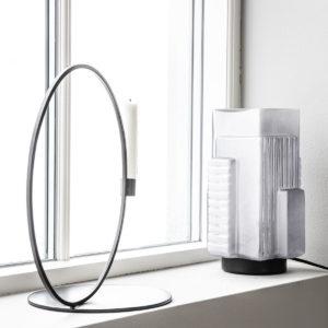 Bougeoir grand cercle métal 59€ chez Inspiration Design à Colmar