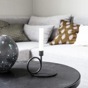 Bougeoir petit cercle métaL 32€ chez Inspiration Design à Colmar