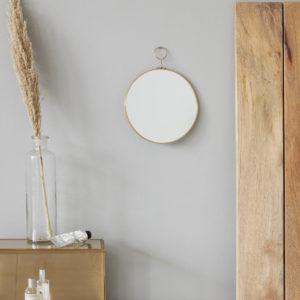 Miroir rond laiton 55€ chez Inspiration Design à Colmar