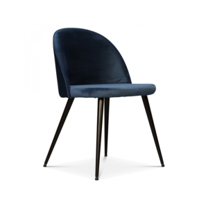 Chaises pieds noirs velours bleu canard H77cm L48cm 95€ chez Inspiration Design à Colmar