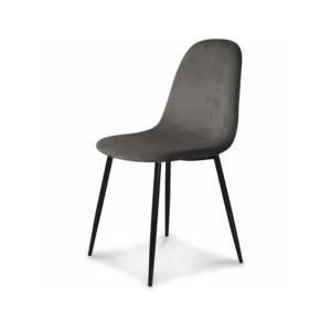 Chaises pieds noirs velours gris H86cm L44cm 90€ chez Inspiration Design à Colmar
