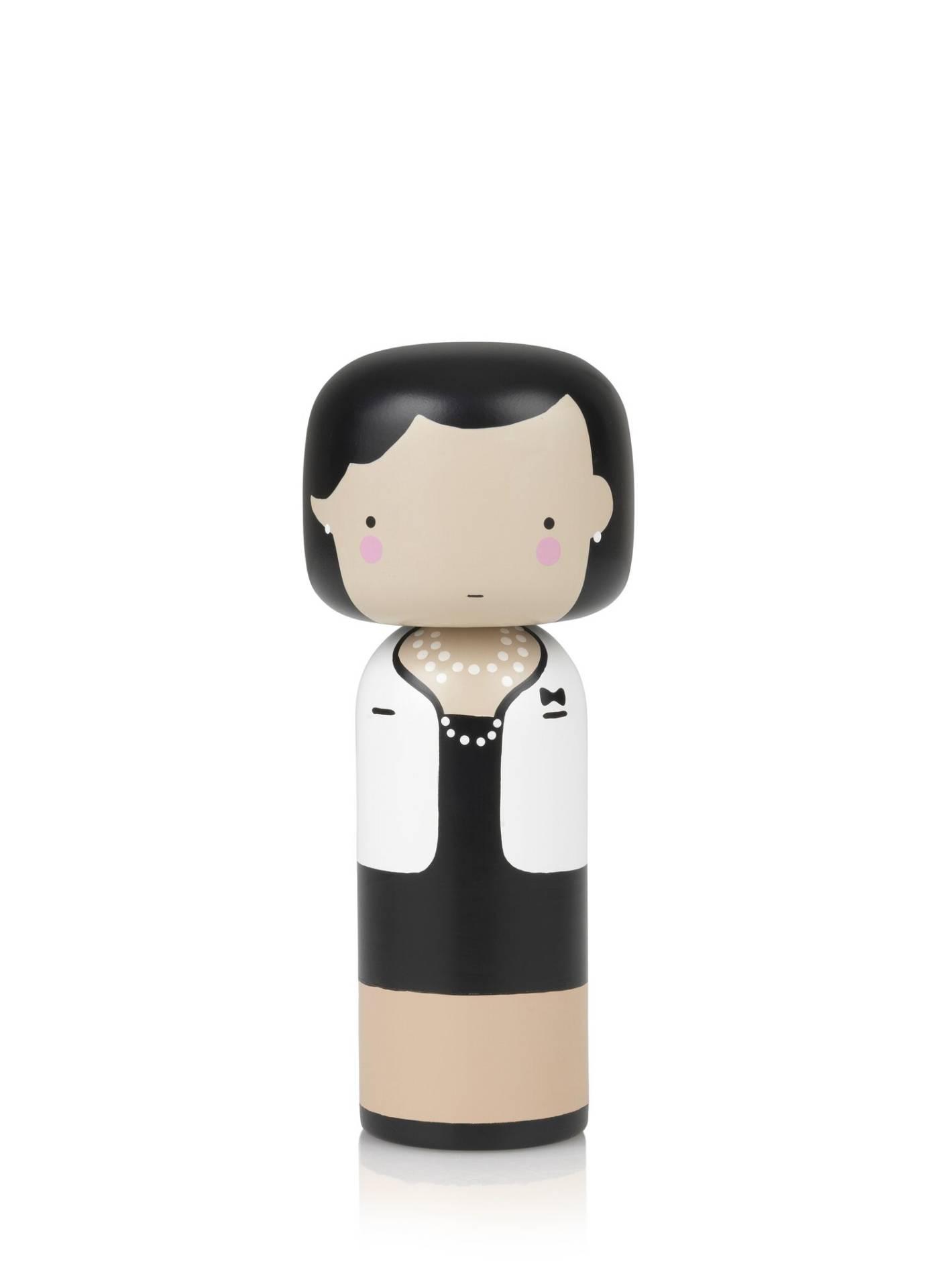 Poupée en bois Coco Chanel H21,5cm : 90€ chez Inspiration Design à Colmar
