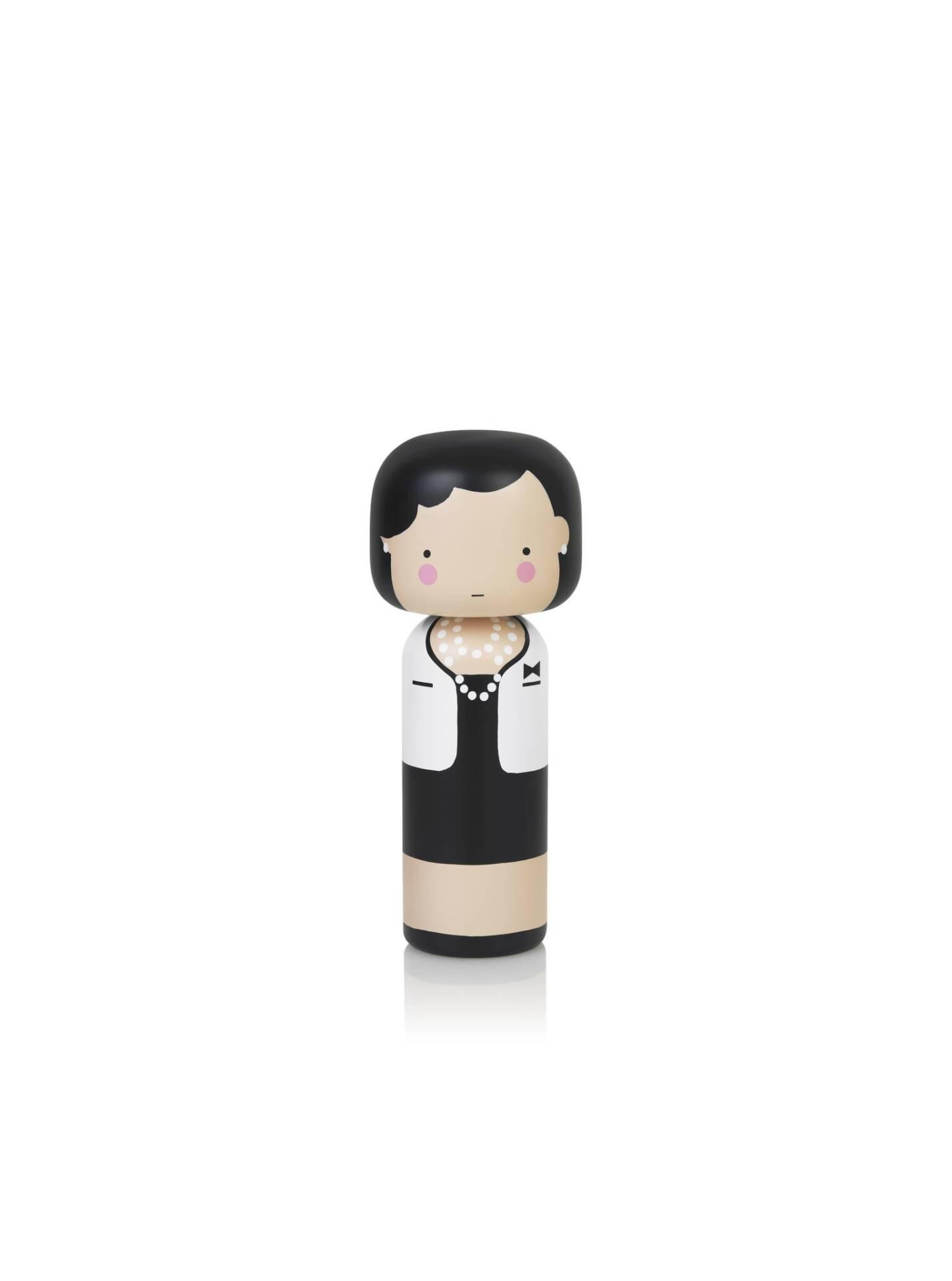 Poupée en bois Coco Chanel H14,5cm : 44€ chez Inspiration design à Colmar