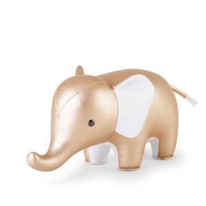 Éléphant doré en cuir 1kg 75€ chez Inspiration Design à Colmar