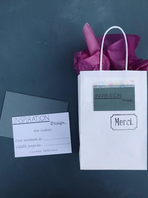 Carte Cadeau chez Inspiration Design à Colmar