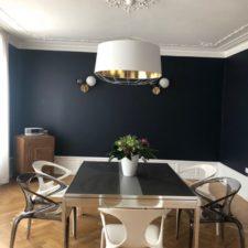 Choix de luminaires et mise en scène d'un espace salle à manger (vue d'ensemble) de style haussmannien par Inspiration Design : Décoratrice UFDI à Colmar