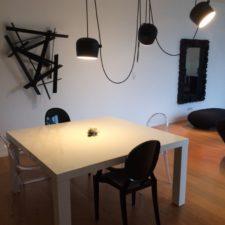 Choix du luminaire salle à manger avec vue depuis la cuisine ouverte par Inspiration Design : Décoratrice UFDI à Colmar