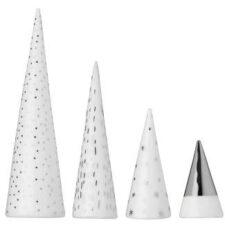 Lot petit sapin or porcelaine H9cm à H3.5cm à 15€ chez Inspiration Design à Colmar