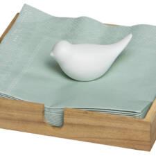 Porte serviette oiseau Bois/ Porcelaine 25€ chez Inspiration Design à Colmar