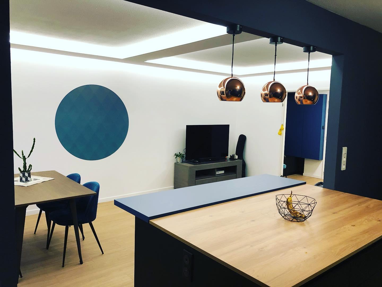 Rénovation d'un salon ouvert sur la cuisine à Colmar, par Inspiration Design, Décoration intérieure à Colmar