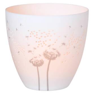 Photophore pissenlit porcelaine à 17€ chez Inspiration Design à Colmar