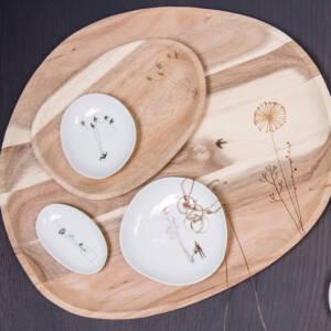 Lot coupelles dorées porcelaine 18€ chez Inspiration Design à Colmar