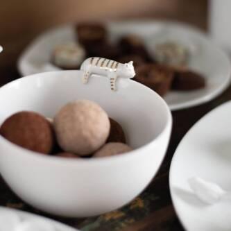 Coupelle chat porcelaine 16€ chez Inspiration Design à Colmar
