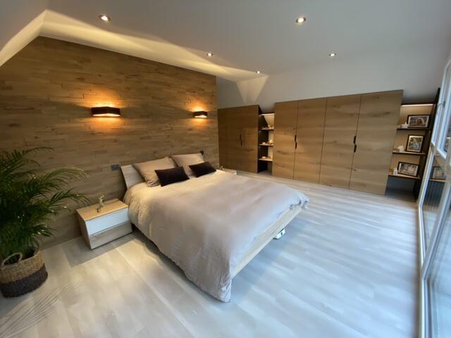 Agencement et décoration d'une chambre à coucher à Orbey, par Inspiration Design, Décoration intérieure à Colmar