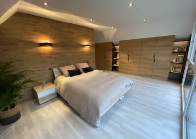 Agencement et décoration d'une chambre à coucher à Orbey